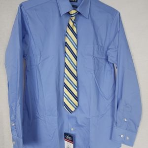 Chaps Dress Shirt with Clip on Tie. Tags On
